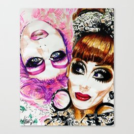Upside Down Girl Glen Alen & Bianca Del Rio Canvas Print