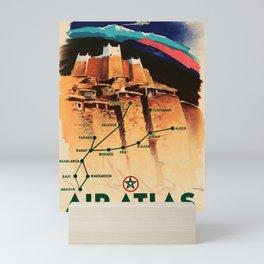 altes Plakat Air Atlas Mini Art Print