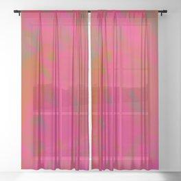 Vibrant Vulcan Sheer Curtain