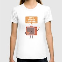 cartoons T-shirts featuring Weekend Mood by Teo Zirinis