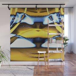 Curtain Yellow Wall Mural