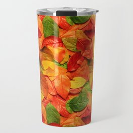 Autumn colors leaves pattern Travel Mug