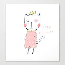 CAT CARTOON PRINCESS Canvas Print
