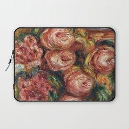 """Auguste Renoir """"Composition aux roses et à la tasse de thé (Composition with roses ...)"""" Laptop Sleeve"""