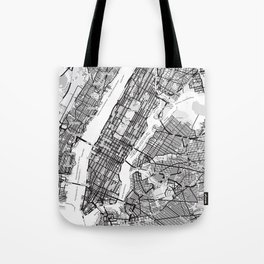 New York City Showing Manhattan, Brooklyn and New Jersey Tote Bag
