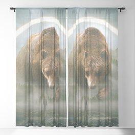 aegis | bear Sheer Curtain