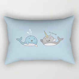 Horny Narwhal Rectangular Pillow