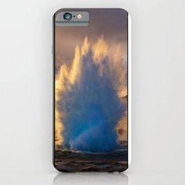 Geysir Triptych Iceland iPhone Case