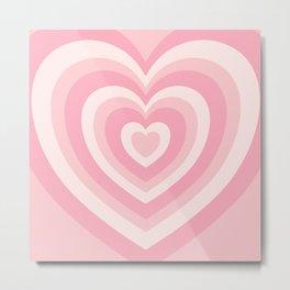 Pink Love Hearts  Metal Print
