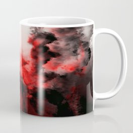In Pain - Red And Black Abstract Coffee Mug