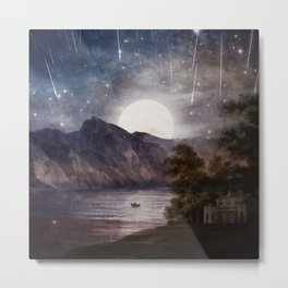 Love under A Wishing Star Sky Metal Print