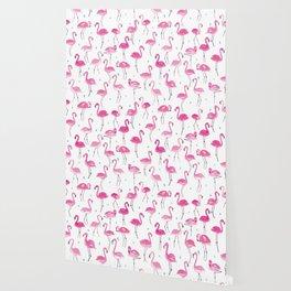 Watercolour Flamingoes Wallpaper