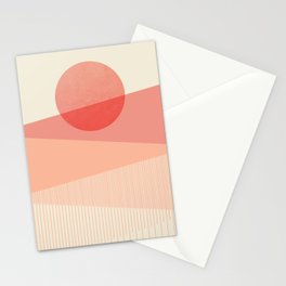 Abstraction_SUNSET_LINE_ART_Minimalism_001 Stationery Cards