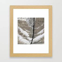 Water stains and cracks Framed Art Print
