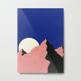 Death Valley Moon II Metal Print