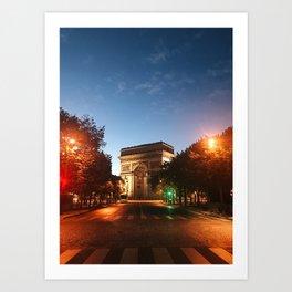 Parisian Sunrise Art Print