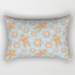 Winter Gingerbread Cookies Rectangular Pillow