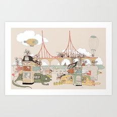 City of animamaly Art Print