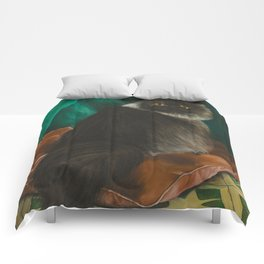 DONETE, A FANCY CHOCOLATE PERSIAN CAT Comforters