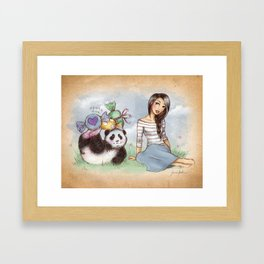 White Day Framed Art Print