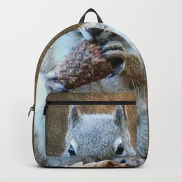 Squirrel with a Pine Cone Backpack