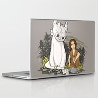 how to train your dragon Laptop & iPad Skins featuring How To Train Your Luck Dragon by Lacey Simpson