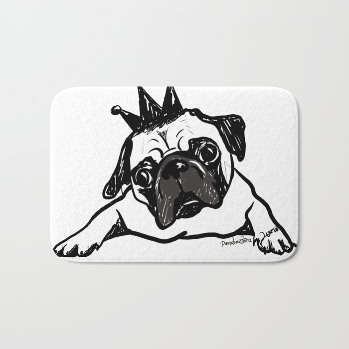 King Pug Bath Mat