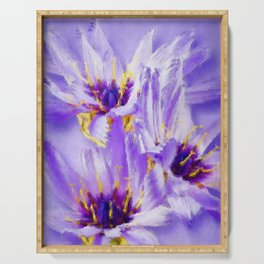 Catananche flowers Serving Tray