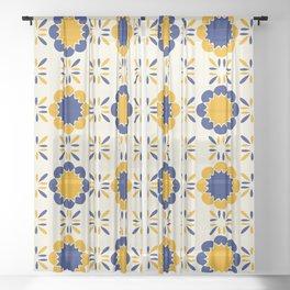 Lisboeta Tile Sheer Curtain