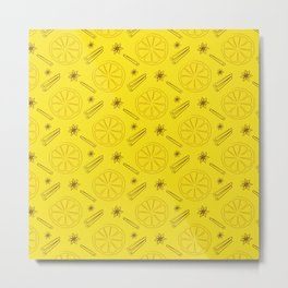 Lemon and cinnamon Metal Print