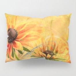 Rudbeckia flowers abstract Pillow Sham