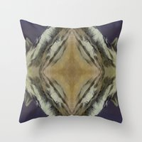 sound Throw Pillows featuring Sound by Puttha Rayan Ali