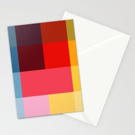 Chromatic squares Stationery Cards