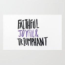 Faithful Joyful and Triumphant x Purple Rug