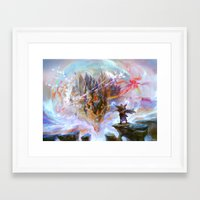 magic the gathering Framed Art Prints featuring Demystify - Magic: The Gathering by vmeignaud