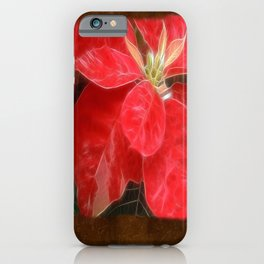 Mottled Red Poinsettia 1 Ephemeral Blank P3F0 iPhone Case