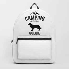Camping With My Goldie Dog Lover Golden Retriever Puppy Backpack