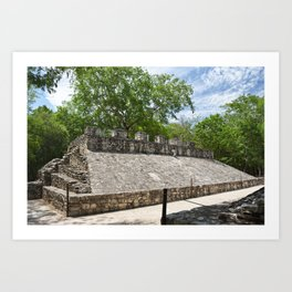 Coba Ball Court Mexico Mexican Maya Mayan Quintana Roo Temple Historical Art Print