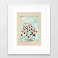 birthday Framed Art Prints featuring birthday... by matzenbacher