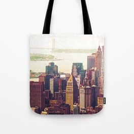 New York City Skyline Colors Tote Bag