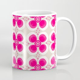 Retro Flower Delight Coffee Mug