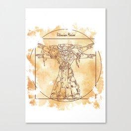 Vitruvian Marine Canvas Print