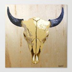 Buffalo Skull Canvas Print