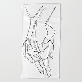 One Line Love Beach Towel