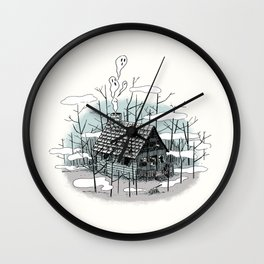 DEEP IN THE HEART OF THE FOREST Wall Clock