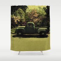 old school Shower Curtains featuring Old School by IRIS Photo & Design