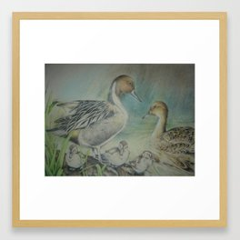 Family Outing Framed Art Print