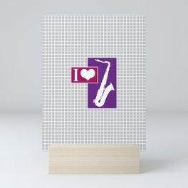 I love Saxophone Mini Art Print