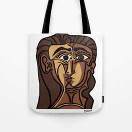 Pablo Picasso, Tete de Femme (Head Of A Woman) 1962 Artwork Reproduction Tote Bag