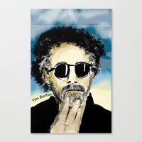 tim burton Canvas Prints featuring Tim Burton by Joanie L. Posner (jppozzy)